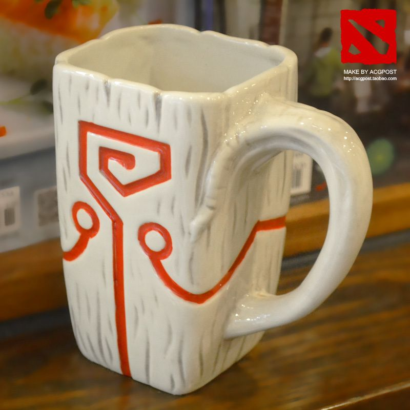100 Official Dota 2 Ti4 Accessory Juggernaut Jugg Mask Pendant Ceramic Mug Coffee Cup For Collection Boyfriend Gifts Coffee Cup Gifts Mugs