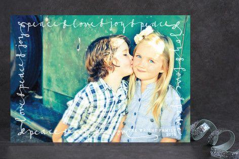 Script Frame Petite Holiday Cards by Sydney Newsom at minted.com