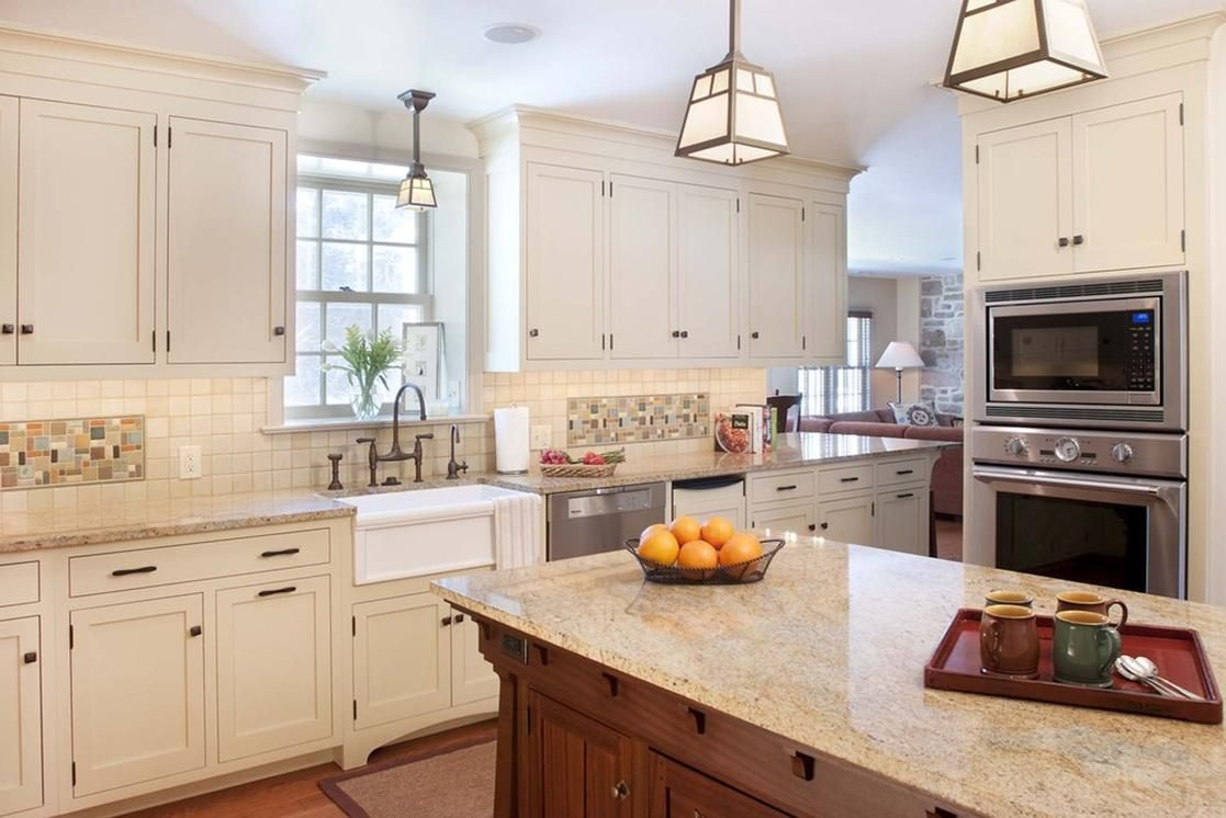 White Craftsman Style Kitchens Craftsman Kitchen White Kitchen