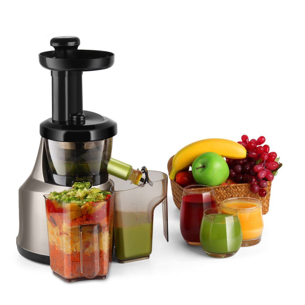 Masticating Juicer Slow Juice Extractor Maker Electric Juicing ...