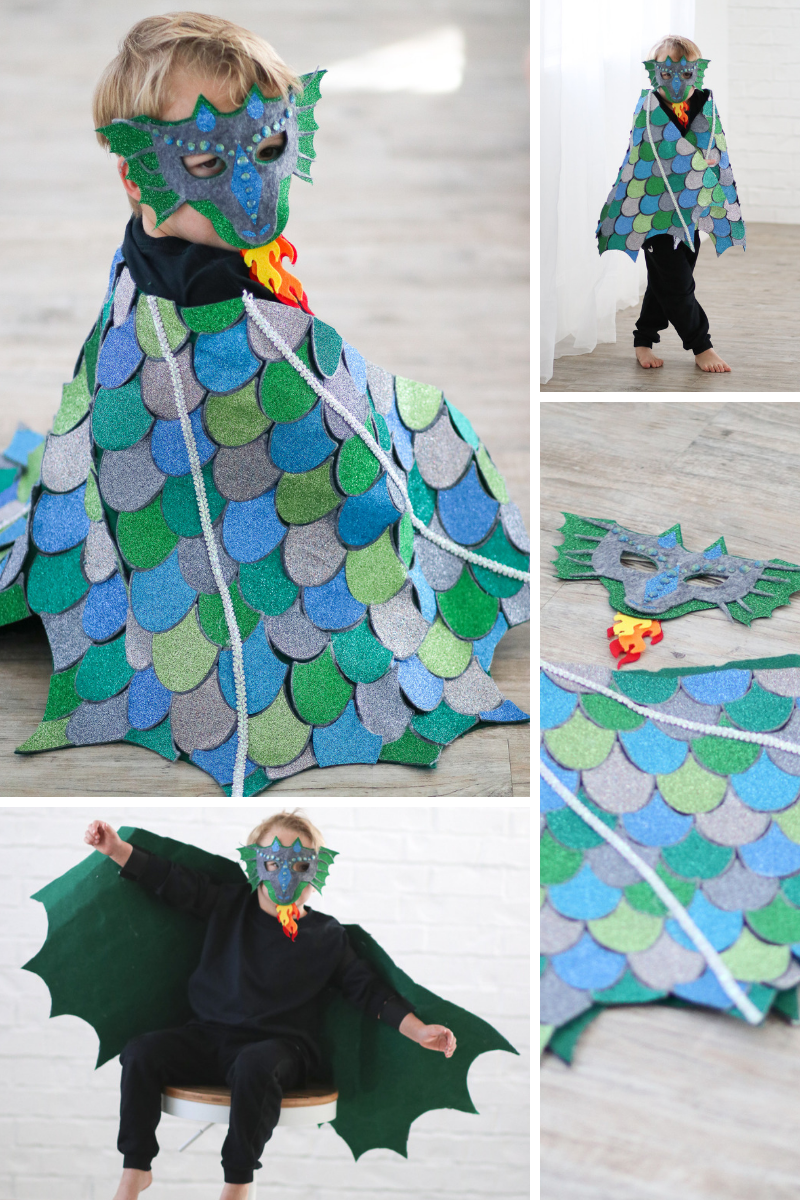 No Sew Halloween Cricut Diy Costumes Diy Dragon Costume