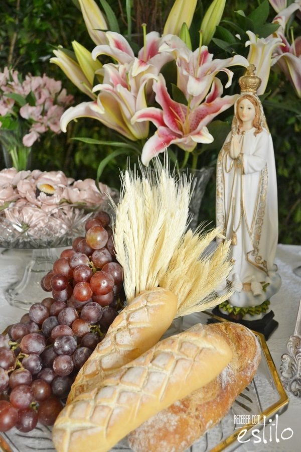 Decoraç u00e3o Primeira Eucaristia Rosa Ideias Primeira comunh u00e3o Eucaristía, Decoracion de  -> Decoração Primeira Comunhão Igreja