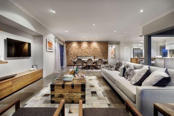 Dise o de casa moderna de dos pisos fachada e interiores - Comedor salon moderno ...