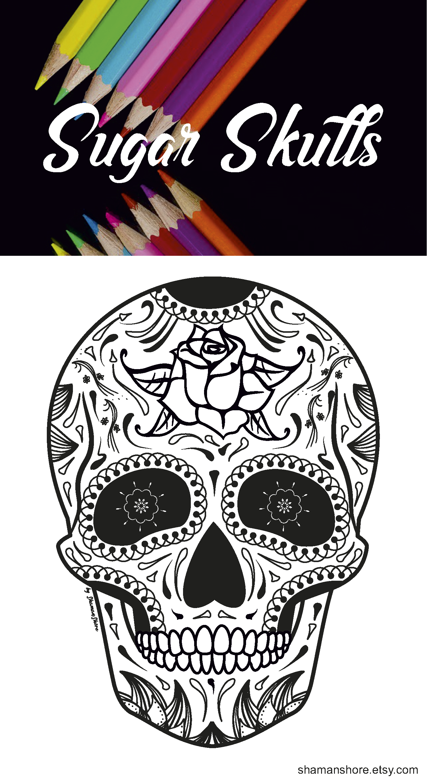 Skull Adult Coloring Book Pdf 15 Sugar Skull Adult Coloring Pages