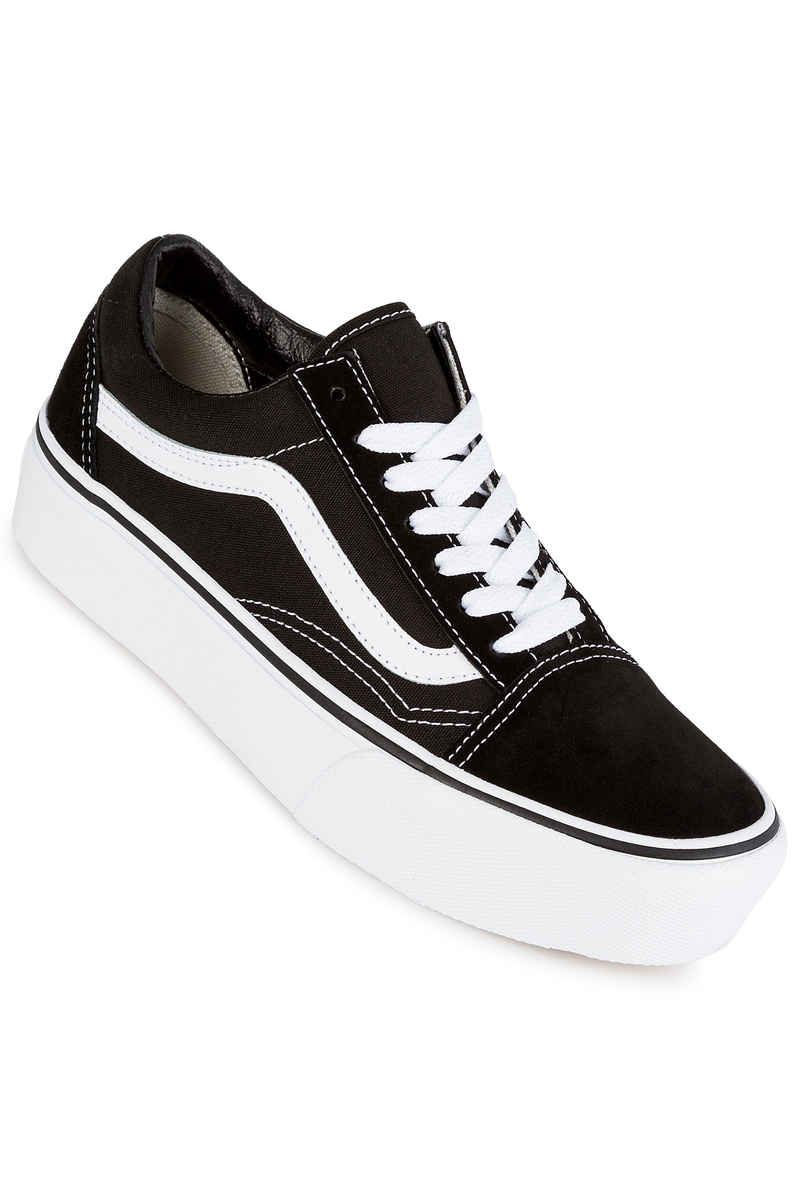 Vans Old Skool Platform Shoes women (black white ...