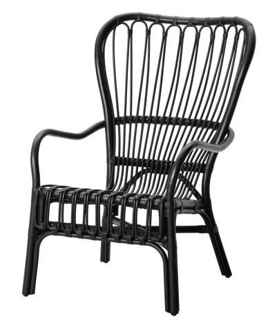 Rattan Furniture Black Outdoor Outside Ikea Armchair Chairs