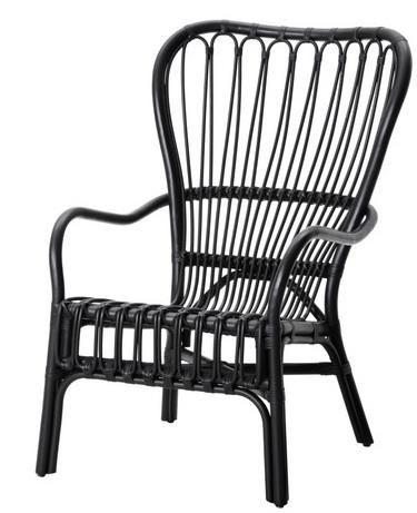 Furniture High Low Black Rattan Chair Ikea Armchair Rattan