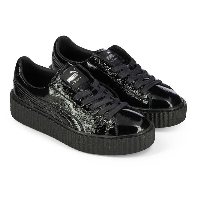check out 4d331 77d1e Baskets femme Puma Creepers Fenty Rihanna noir vernis