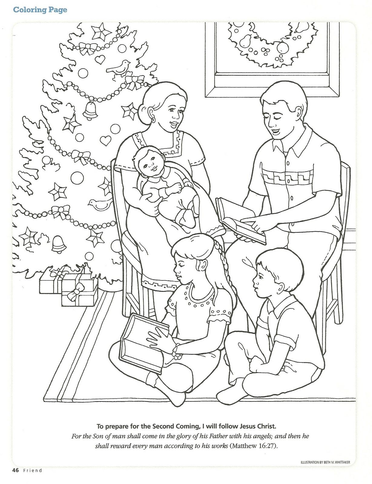 Happy Clean Living Primary 2 Lesson 46 Christmas Family Coloring Pages Coloring Pages Printable Christmas Coloring Pages