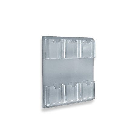 Azar 252066 Six Pocket Wall Mount Brochure Holder 2pack Transparent Brochure Holders Wall Mount Wall