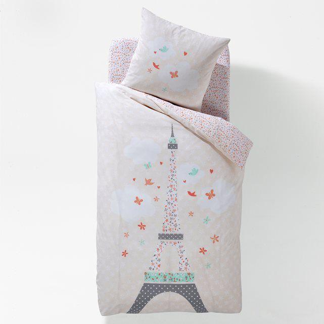 50aefda3be Housse de couette, enfant, Paris Girly La Redoute Interieurs ...