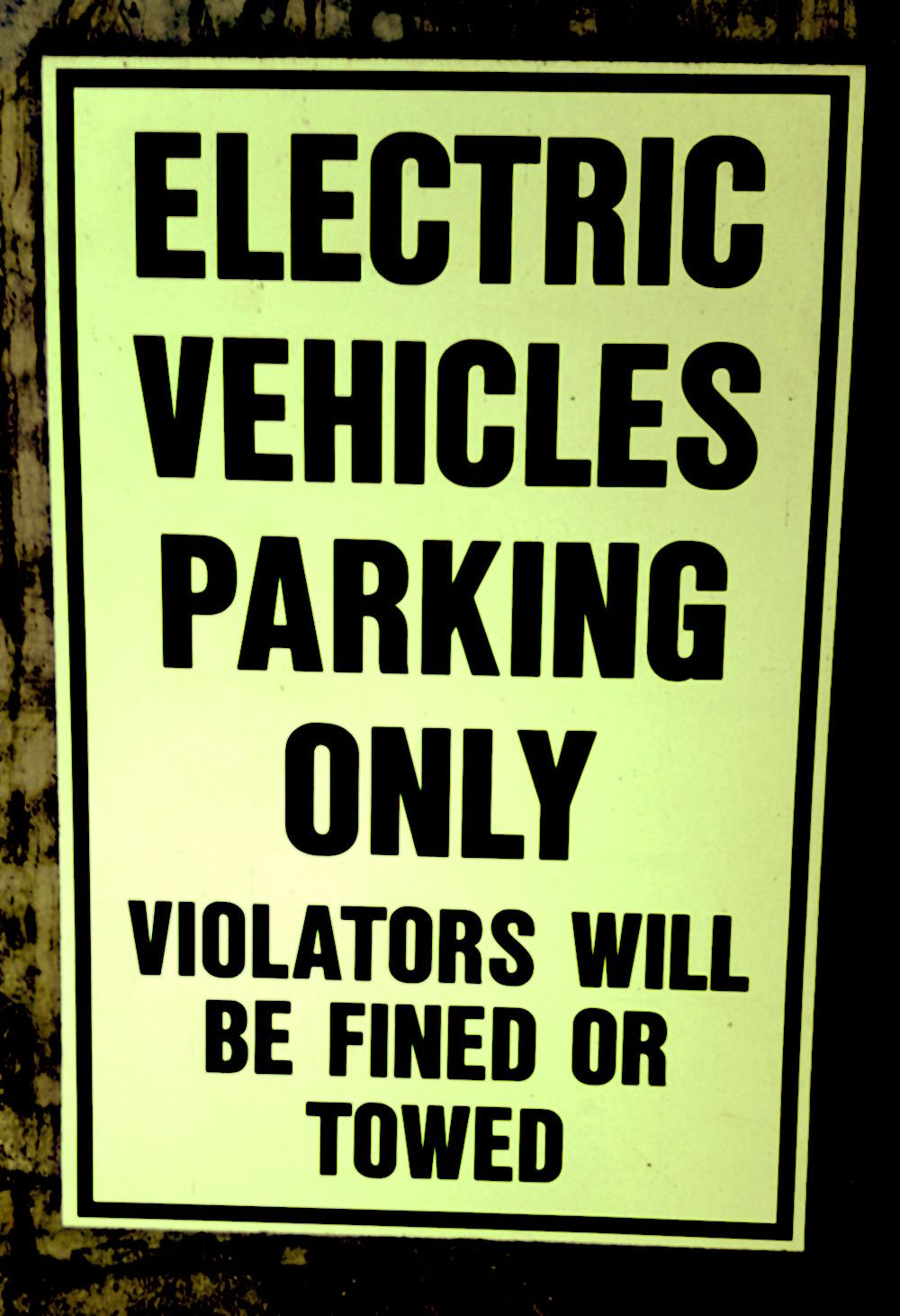 ELECTRIC VEHICLE CHARGING ONLY