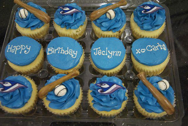 CC3042 toronto blue jays cupcakes Custom cupcakes Birthday