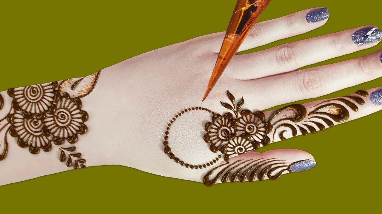 mehndi design in back hand