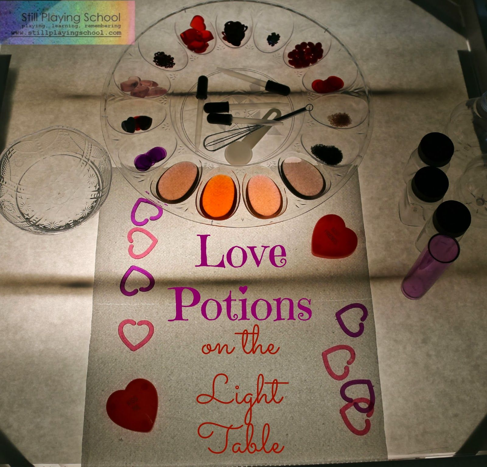 Love Potions Color Mixing On The Light Table