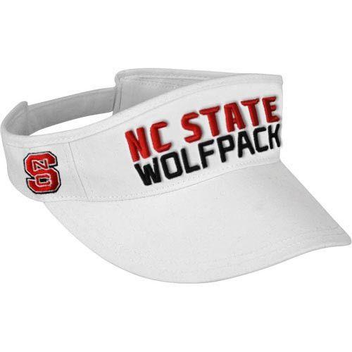 NC State Wolfpack adidas® White 2014 Tex Ace Football Sideline Visor
