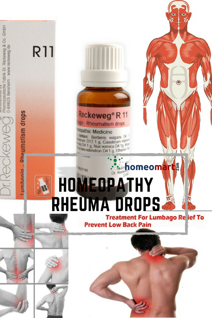 Reckeweg R11 Rheuma drops for Muscle/Back pain, Spondylosis