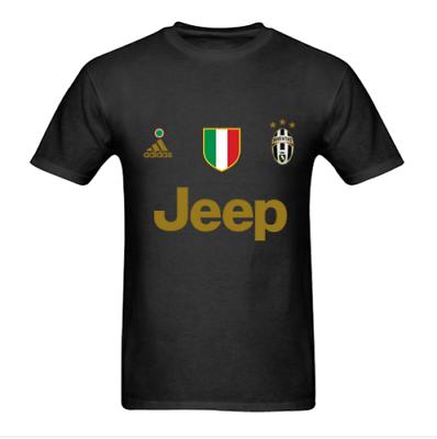 Jeep Juventus Logo Sport Cotton T Shirt Tee Vintage New Gildan S