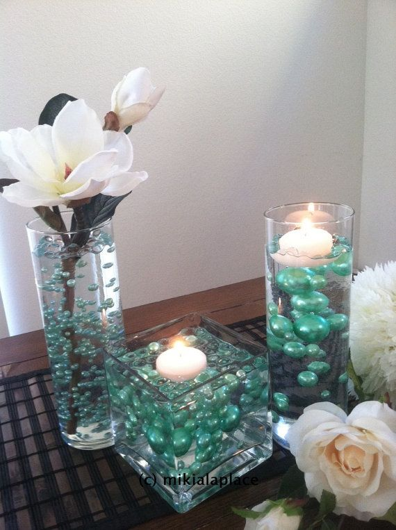 seafoam green jumbo pearlstable confetti mix by mikialaplace