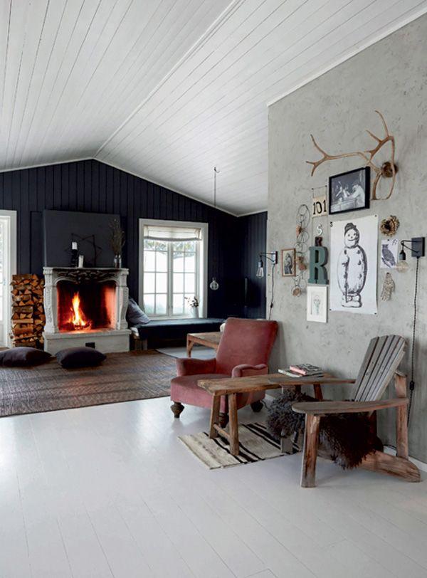 Norwegian Christmas Cabin Decor Cabin Decor Scandinavian Home Log Home Interiors