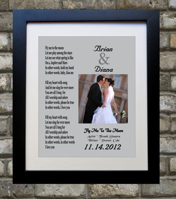 Song Lyric Print Custom Anniversary Gift Any Wedding Song
