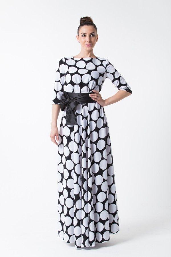 Платье в крупный горох на женщин