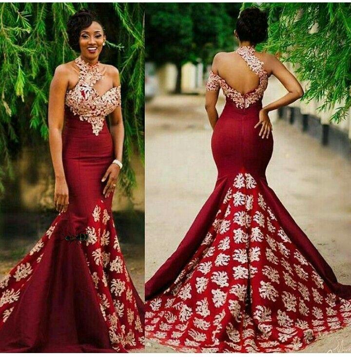Modele robe soiree en pagne