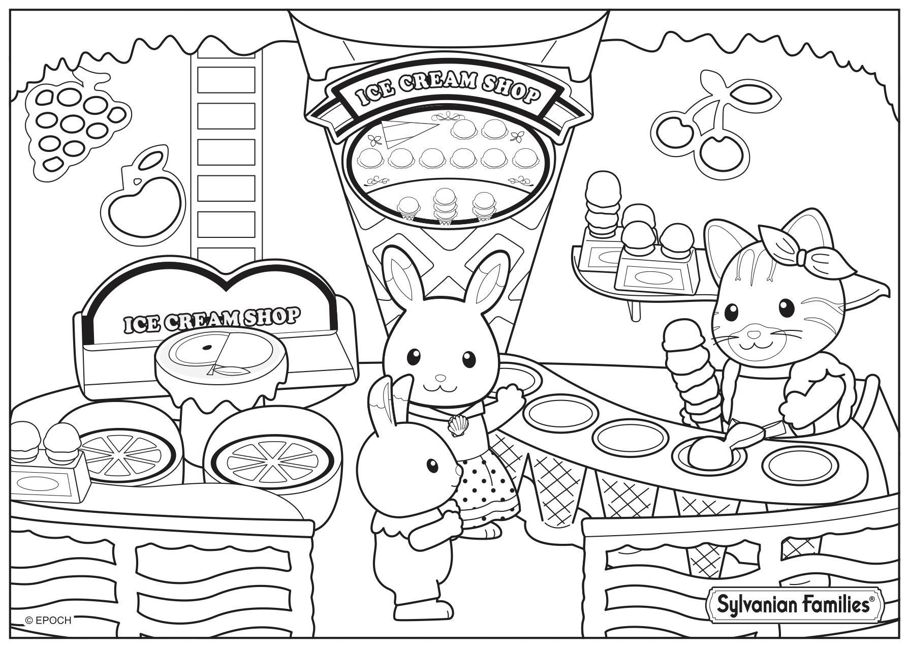 Free Coloring Pages Download 237 Best Sylvanian Families Images On Pinterest Sylvanian Families Of Calic Family Coloring Pages Family Coloring Coloring Pages