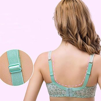 bb2eae35dc Comfortable Cotton Front Button Soft Wireless Printing Nursing Bras On Sale  - NewChic