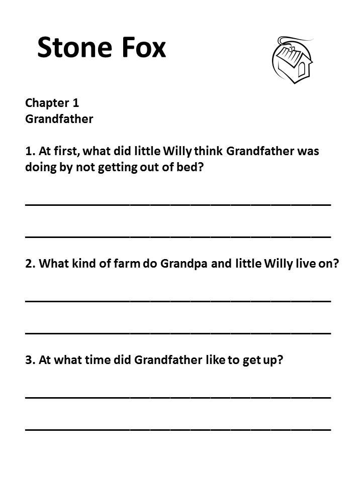 Printables Stone Fox Worksheets lemonade war literacy unit comprehension student and the ojays stone fox by john reynolds gardiner is focus of this packet questions for each chapter grammar