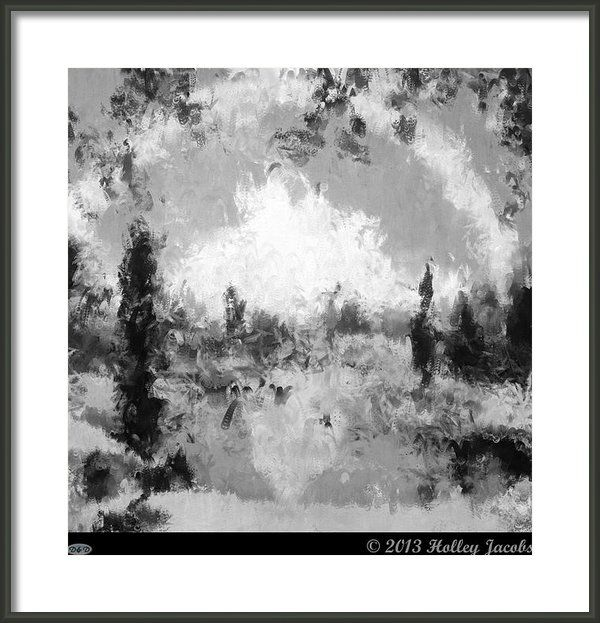 Behaving Badly Black And White Framed Print by Holley Jacobs