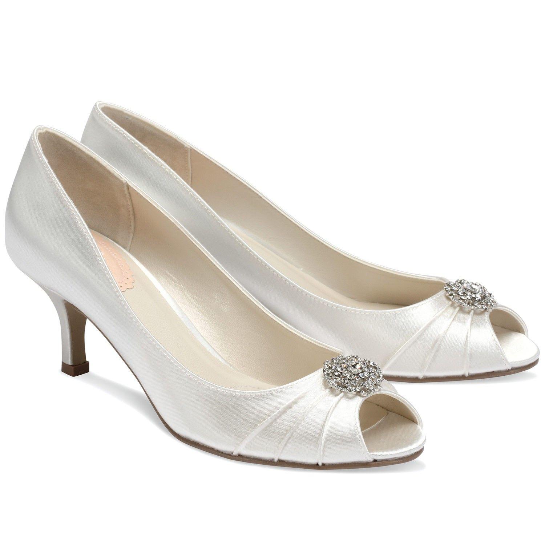 Chaussures mariée en satin ivoire petit talon Zest