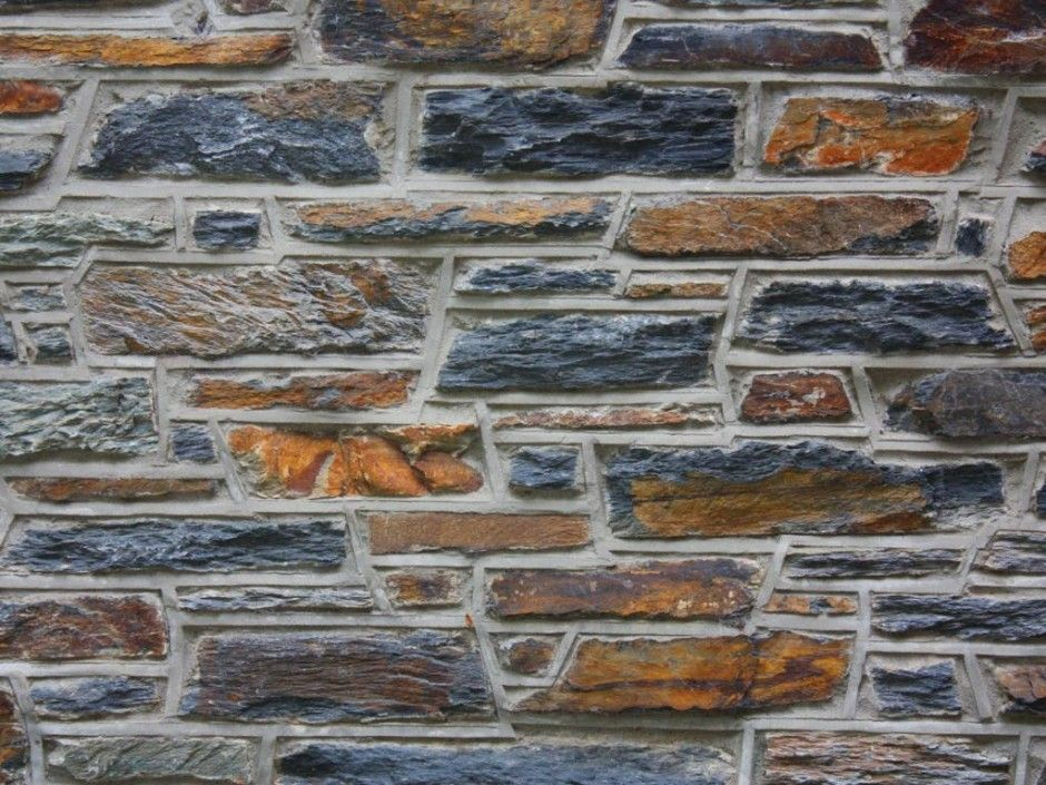 Wall Feature Decorative Mountain Stone Wall Feature Idea Natural Mountain Stone Wall Cladding Featuring Gray Mortar Wall Grouting And Cornered Vistas Ladrillo