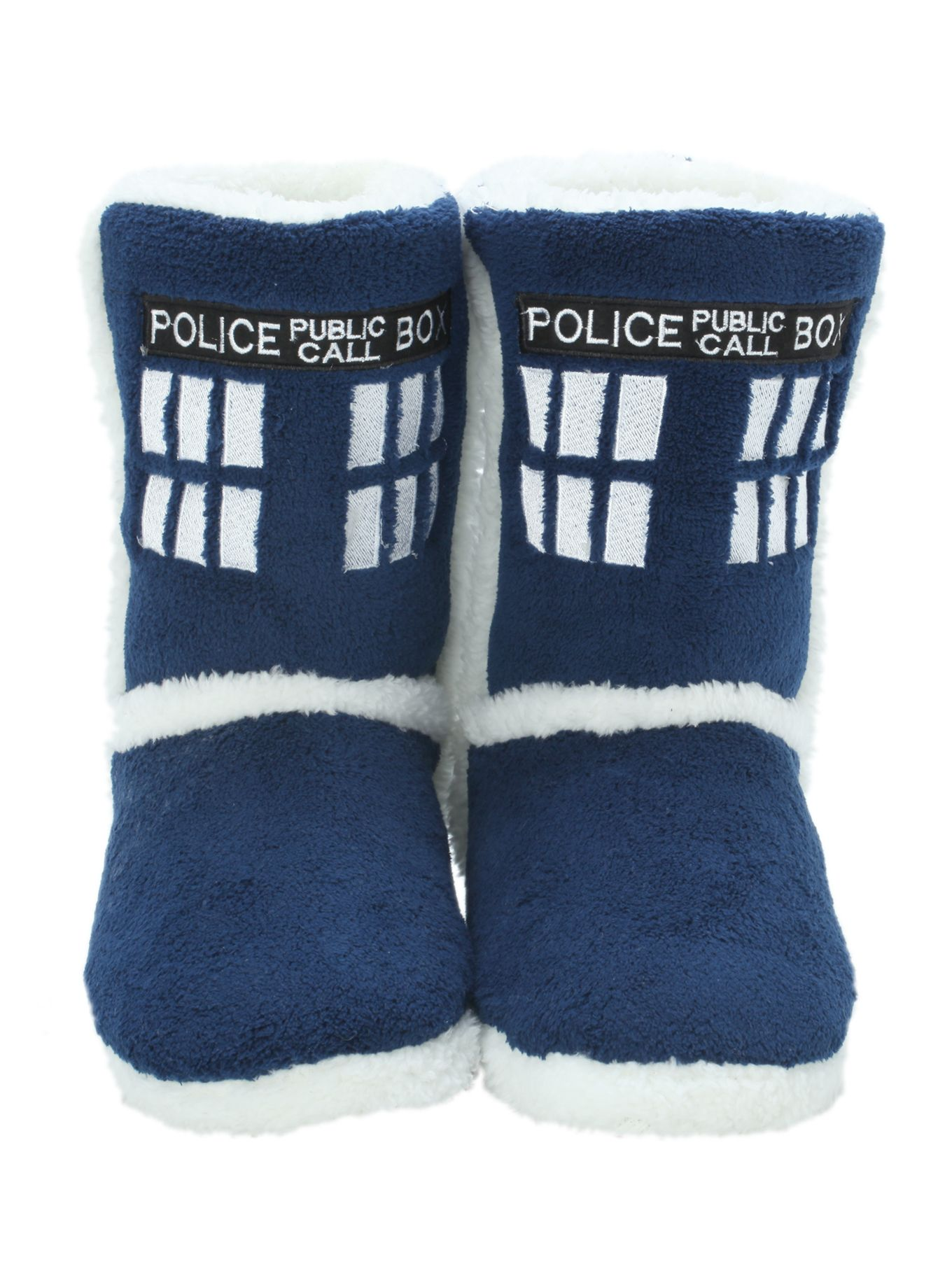 Doctor Who TARDIS Slipper Boots | Hot Topic