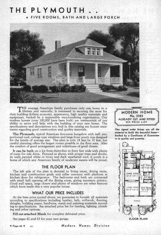 Craftsman Style Bungalow 1923 Sears Kit House Roseberry Craftsman Style Bungalow Kit Homes House Plans