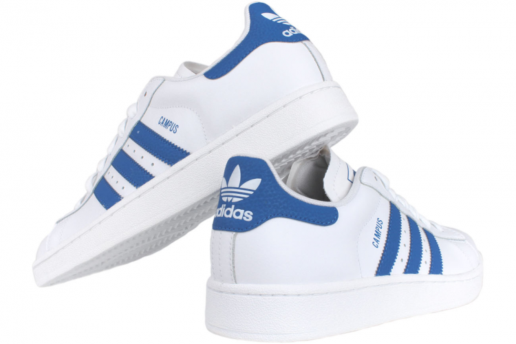 adidas shoes white with blue stripes