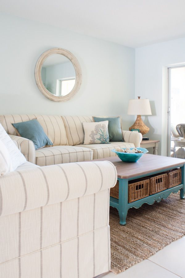 Florida Living Room Design Ideas: Beach Condo Living Room Decor - Before And Afters