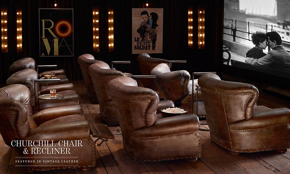 Media Rooms Restoration Hardware Home Theater Rooms Home
