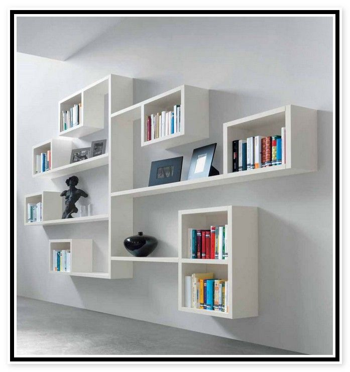 Wall Mounted Bookshelves And Also Wall Mounted Corner