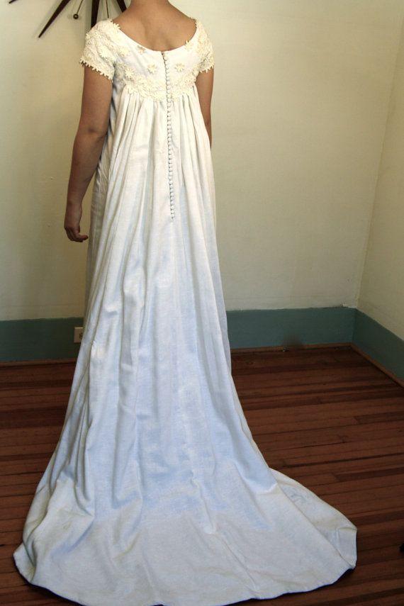 Vintage 60s Priscilla Of Boston White Wedding Dress Long Train