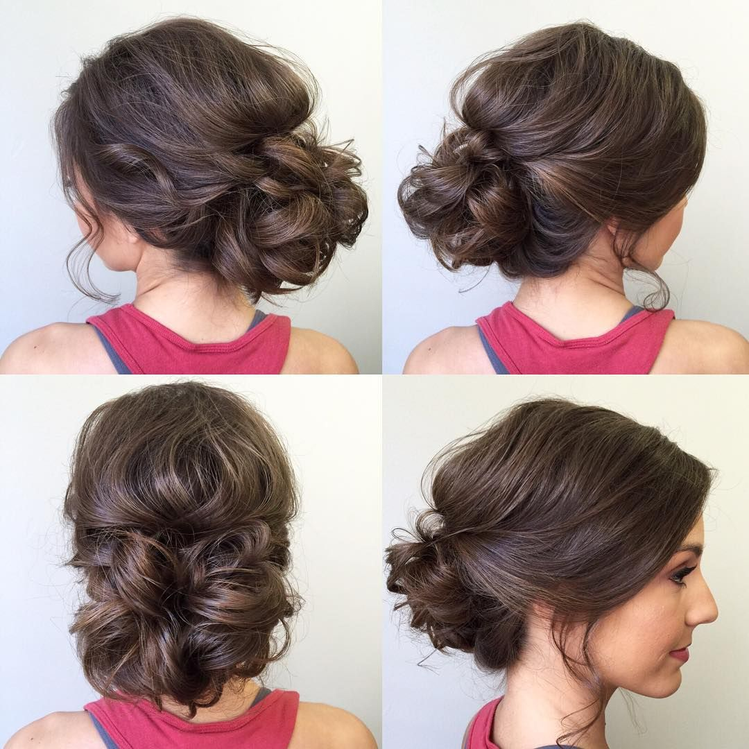 """Wedding Hairstyles For Young Bridesmaids: """"Updo Love #sunkissedandmadeup #updo #bridalhair"""