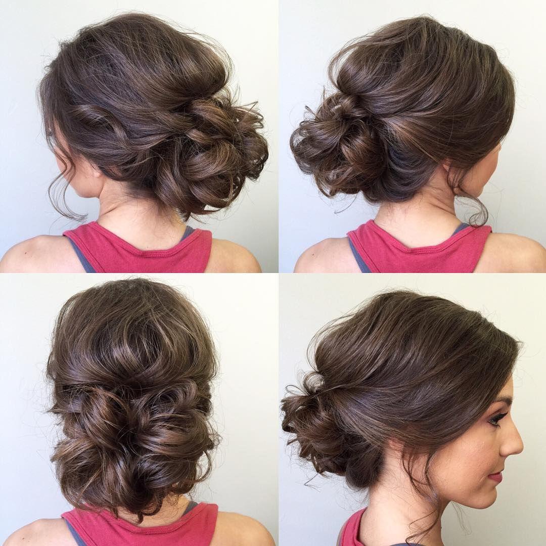 "Wedding Hairstyles Brunette: ""Updo Love #sunkissedandmadeup #updo #bridalhair"