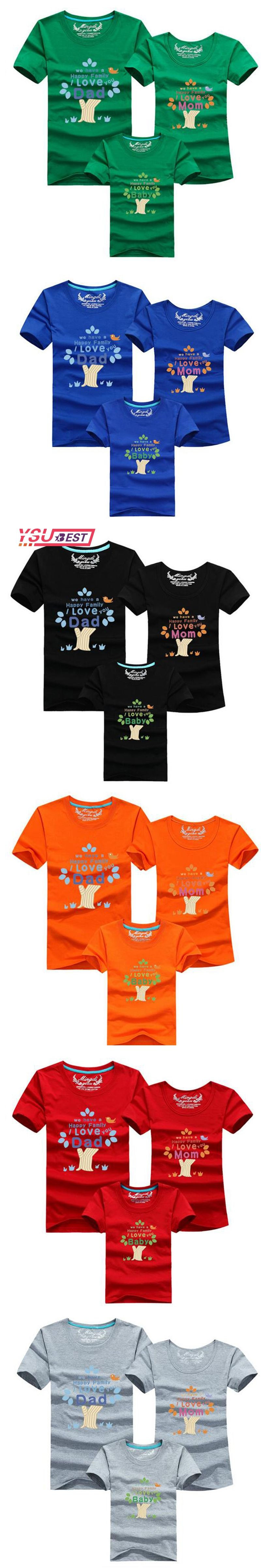 New Mom Dad Baby The Happy Family Printed Family Matching Outfits ...