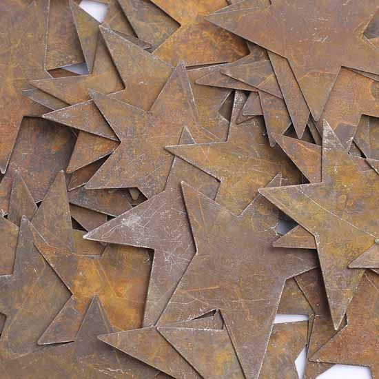 Bulk Rusty Tin Primitive Stars | barn wood decorating | Pinterest ...