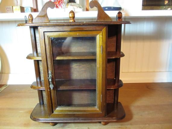 Small Wooden Curio Cabinet 16 34 Tall Small Display Case Home