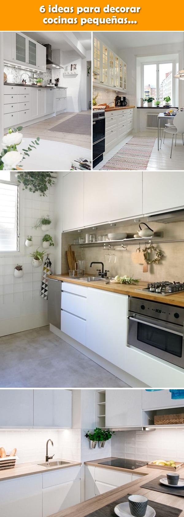 Cocinas peque as 6 ideas para decorarlas cocinas - Ideas para decorar cocinas pequenas ...