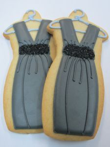 Little black dress cookies