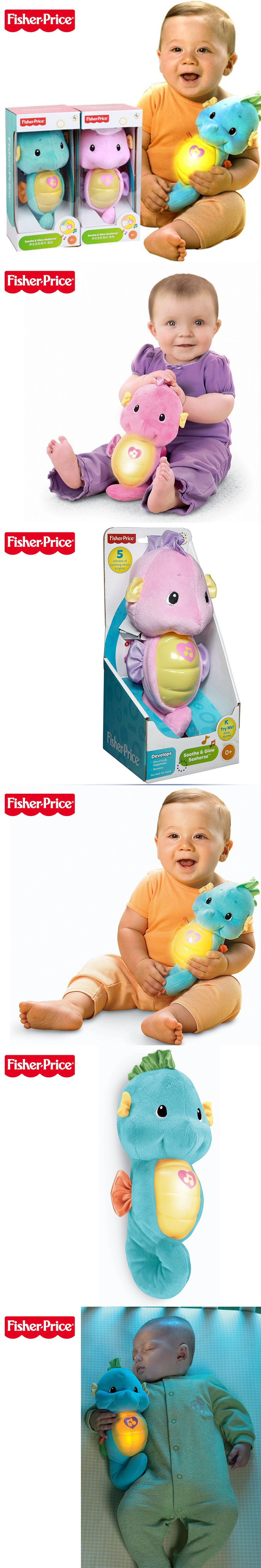 Fisher Soothe and Glow Seahorse Baby Kids Toy Sock And Wrist