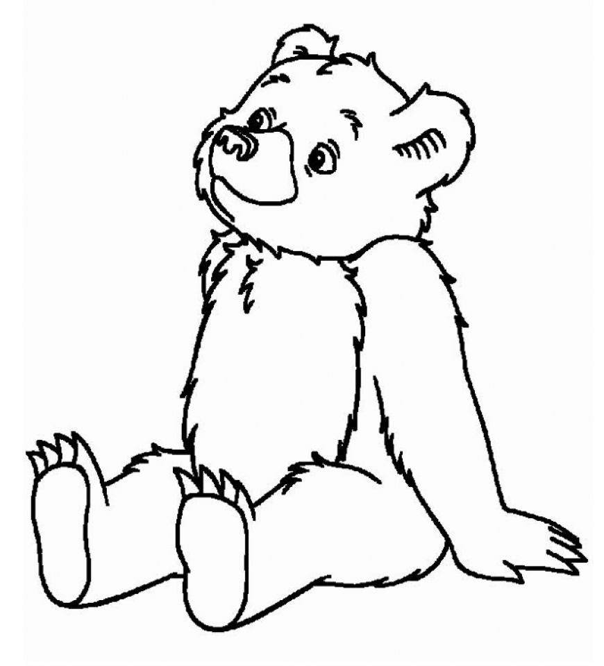 Teddy bear 3 coloring page applique ideas pinterest for Free bear coloring pages