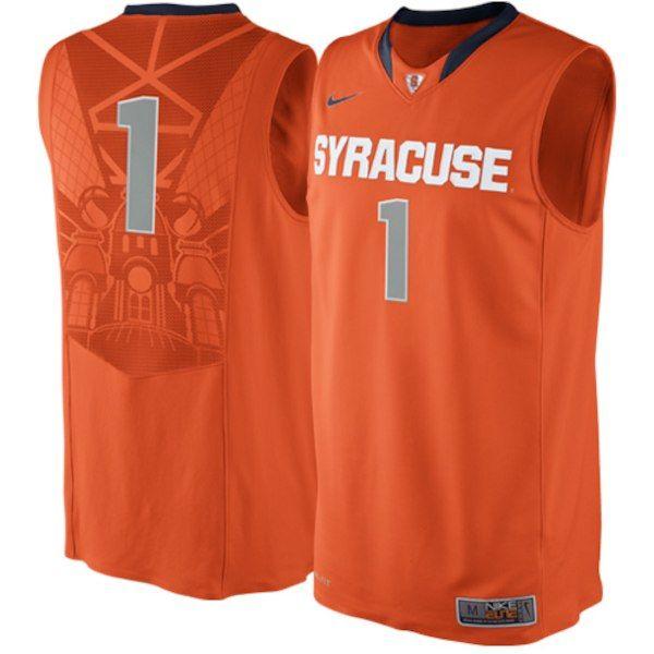 9da7054460ee Nike Syracuse Orange  1 Authentic Elite Basketball Jersey - Orange ...
